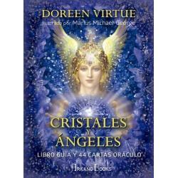 CRISTALES Y ANGELES (Libro guía y 44 cartas Oráculo)